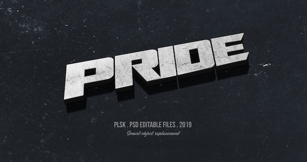 Pride 3d text style effect