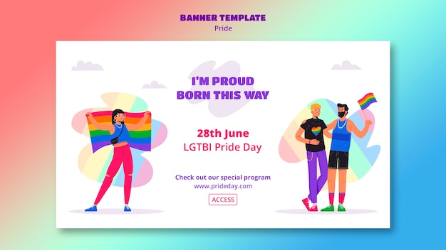 Концепция шаблона баннера гордости день