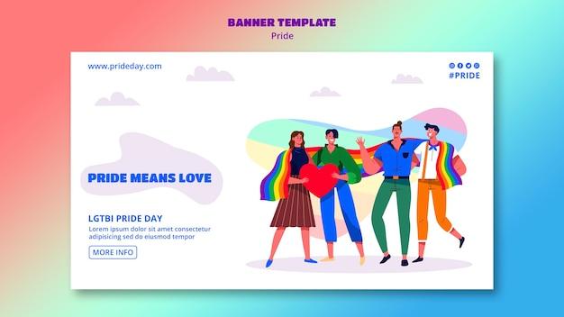 Дизайн шаблона баннера гордости день