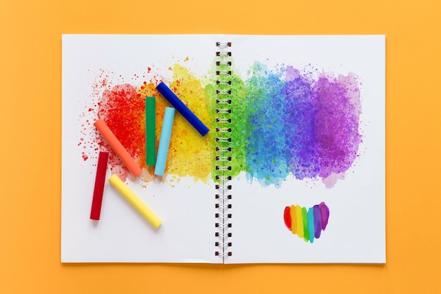 Pride day colorful draw