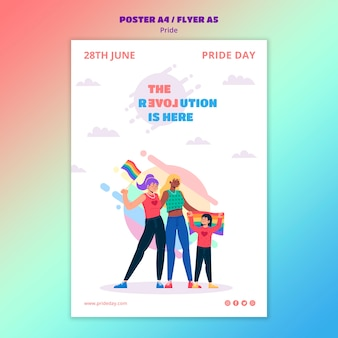 Pride day flyer template style