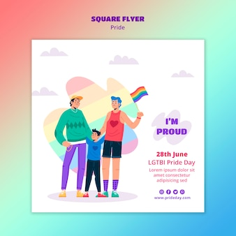 Pride day flyer template theme