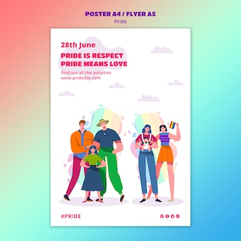 Pride day poster template