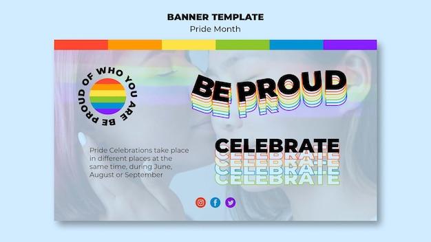 Pride month horizontal banner