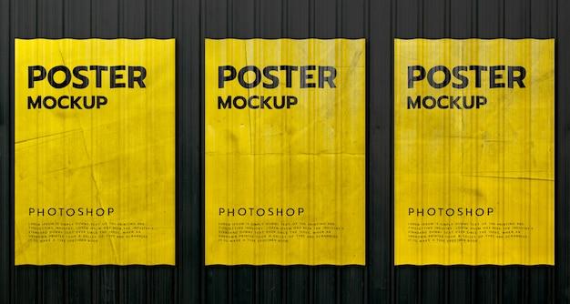 현실적인 인쇄 포스터 모형