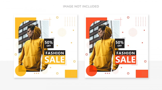 Printfashion instagram post template set