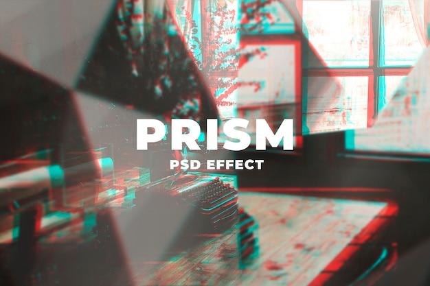 Componente aggiuntivo di photoshop con effetti psd di caleidoscopio di prismi