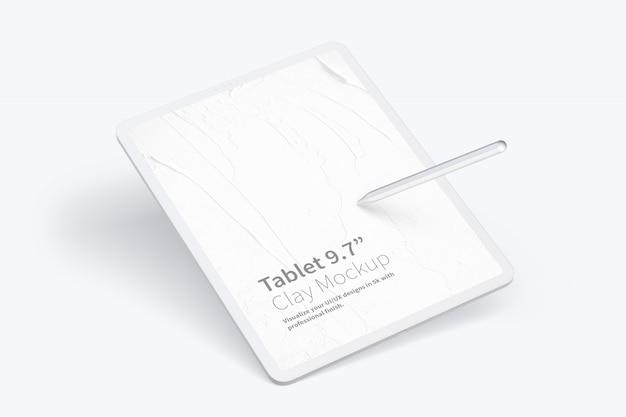 """Глиняный планшет pro 12,9 """"mockup"""