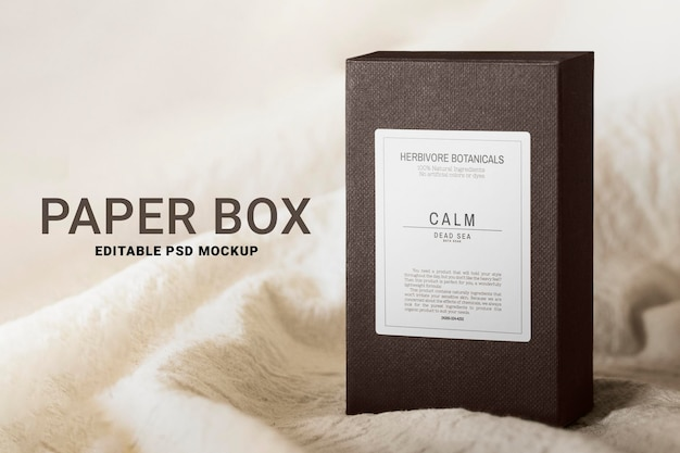Product box psd mockup packaging in minimal style