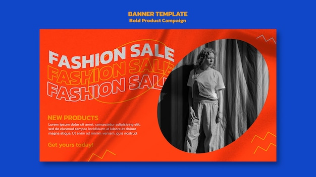 Product campaign banner with photo