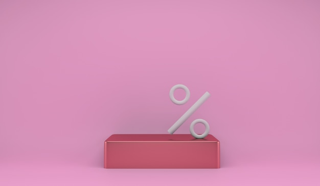 Подиум продукта для этапа маркетинговой презентации с символом процента