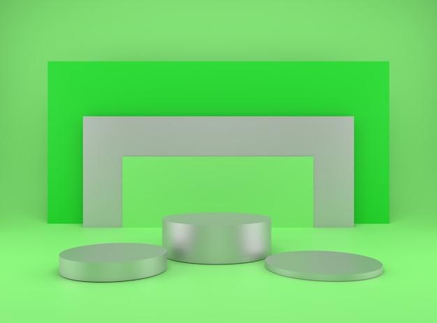 추상 최소한의 기하학 개념에 제품 연단 무대 렌더링