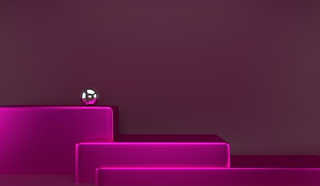 Подиум продукта на абстрактной минимальной геометрической концепции поэтапного рендеринга