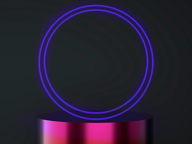 Подиум продукта на пастельном фоне абстрактной минимальной геометрии концепции