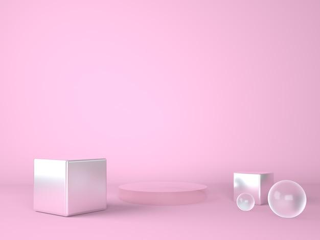Подиум продукта на пастельном фоне сцены презентации
