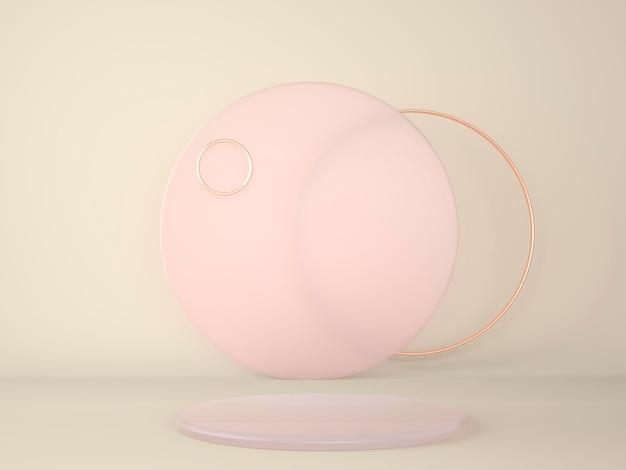 Подиум продукта на пастельной концепции в 3d-рендеринге