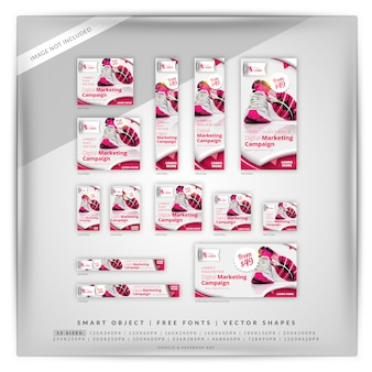 Product sale marketing google banner set
