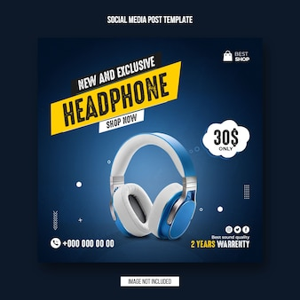 Product sale social media banner and instagram post template