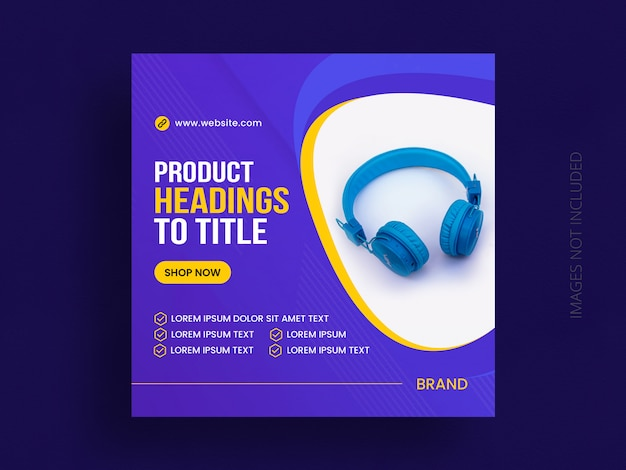 Product sale social media post template or web banner