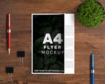 Professional a4 flyer mockup