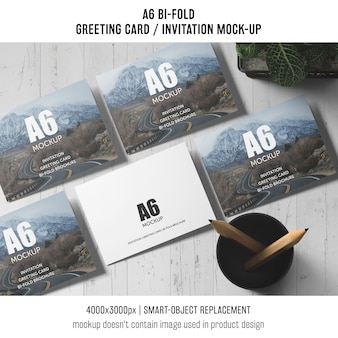 Professional a6 bi-fold invitation card template