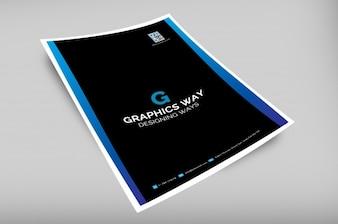 Professional business brochure mockup