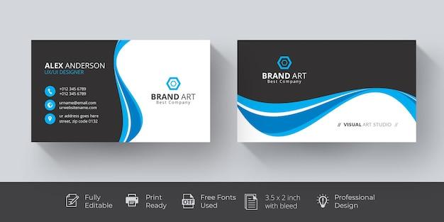 Professional business card mockup