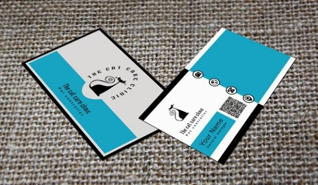 Professional business card with cat