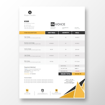 Professional business invoice template