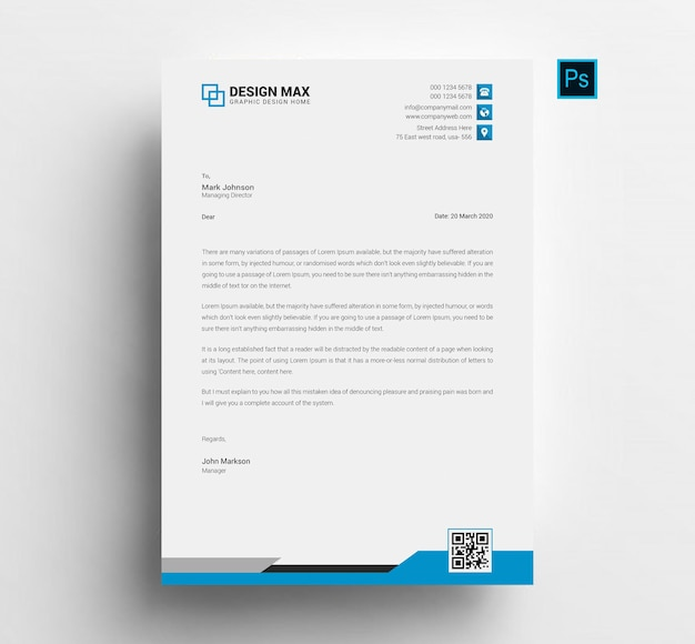 Professional business letterhead template