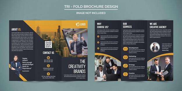 Профессиональный дизайн буклетов для бизнеса trifold