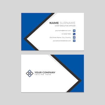 Профессиональный чистый шаблон фотошоп визитная карточка