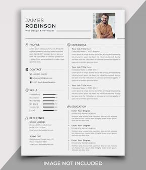 Professional clean cv / resume template