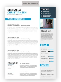 Professional cv resume template