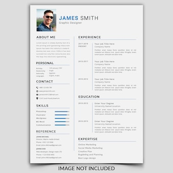 Professional cv / resume