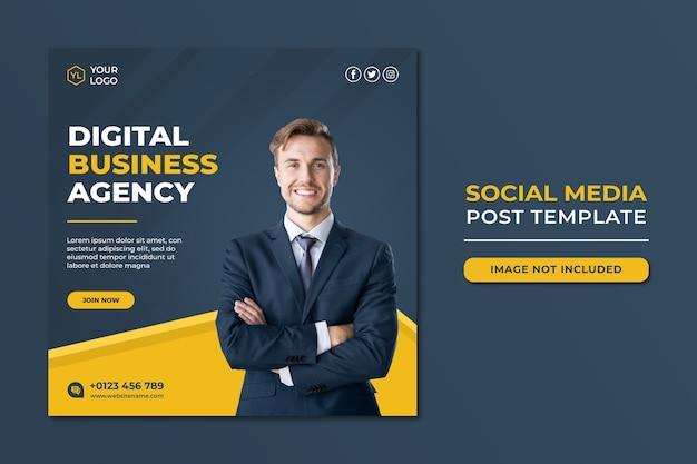 Professional digital marketing agency social media post template