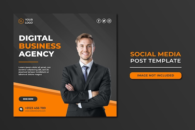 Professional digital marketing agency social media post template