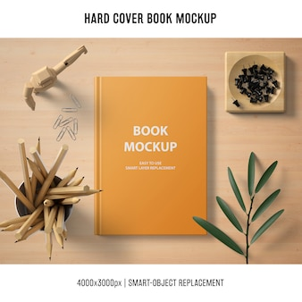 Professional hard cover book mockup