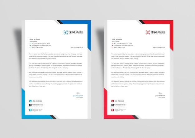 Professional letterhead design templates psd