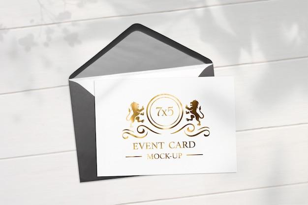 Профессиональный макет карты 7х5 и конверт для смены цвета