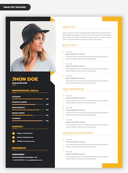 Professional modern abstract cv resume template