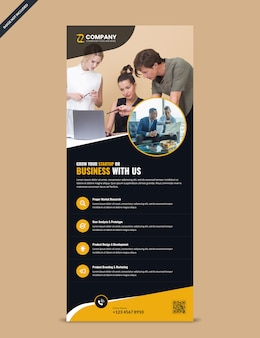 Professional modern corporate rollup banner template