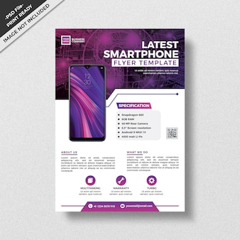 Professional modern style product flyer template design