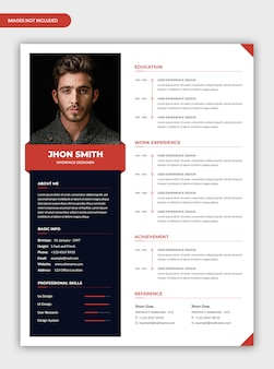 Professional personal cv resume template