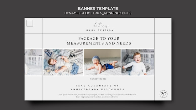 Professional photography banner template