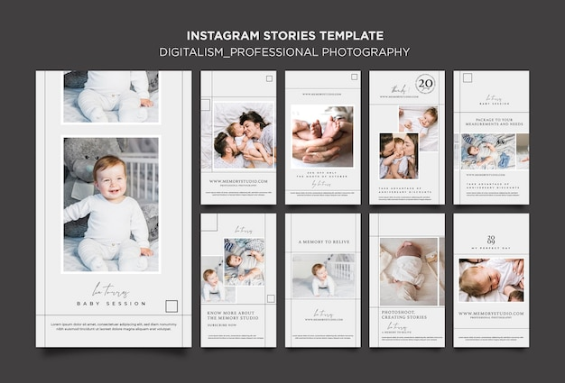 Professional photography stories template