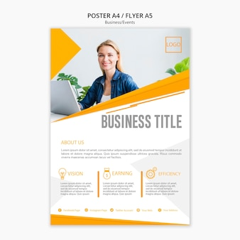 Professional poster template concept