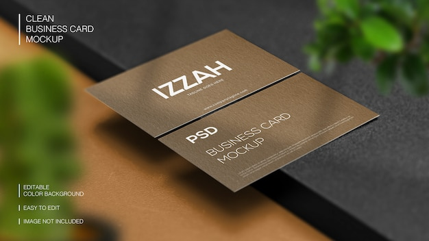 Professional realistic modern and clean business card mockup