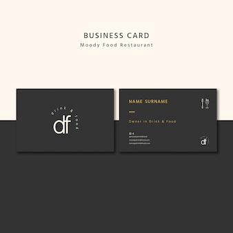 Professional restaurant business card