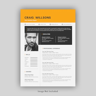 Professional resume or cv template